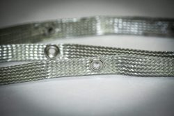 """Grounding Braid 1/2"""" Flat Tinned Copper with Grommets"""